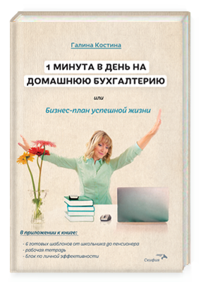 1 минута в день на домашнюю бухгалтерию или Бизнес-план успешной жизни